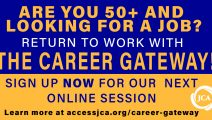 Virtual Career Gateway program for 50+ professional job seekers